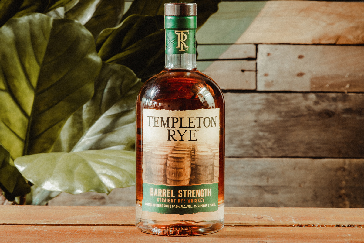 Templeton Rye Barrel Strength Straight Rye Whiskey