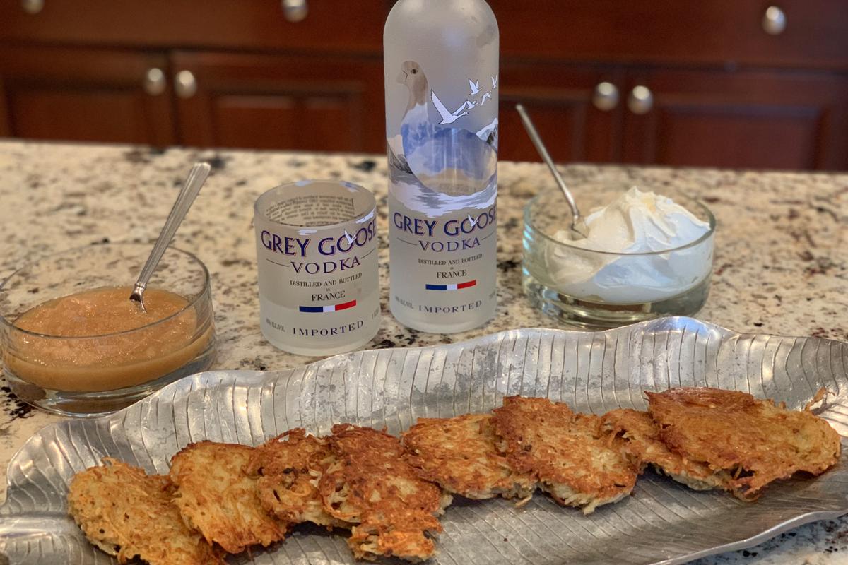 Latkes Vodkas: Grey Goose Vodka