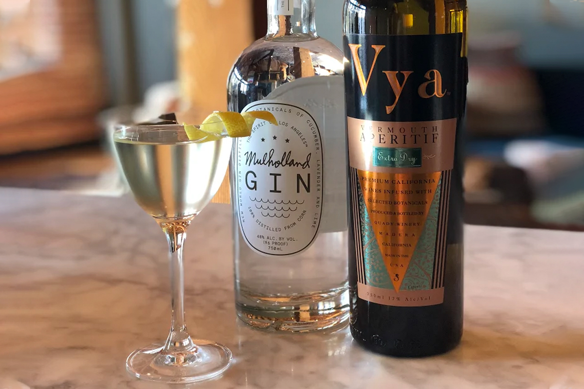Gin and Vermouth Pairing: Mulholland Gin with Vya Extra Dry Vermouth
