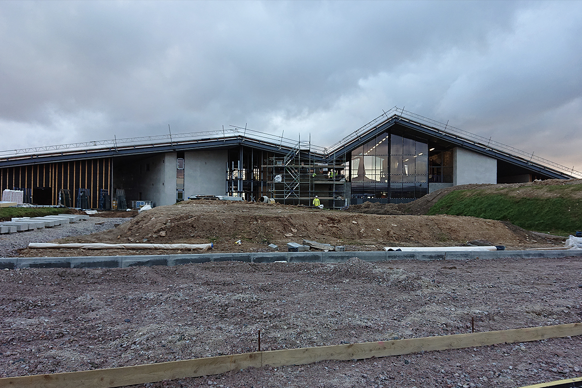 Lagg Distillery: Construction at Lagg Distillery