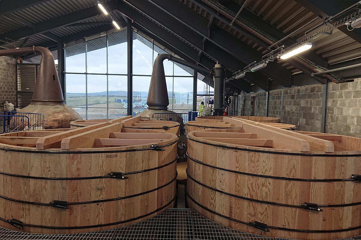 Lagg Distillery: Lagg's fermentation vats