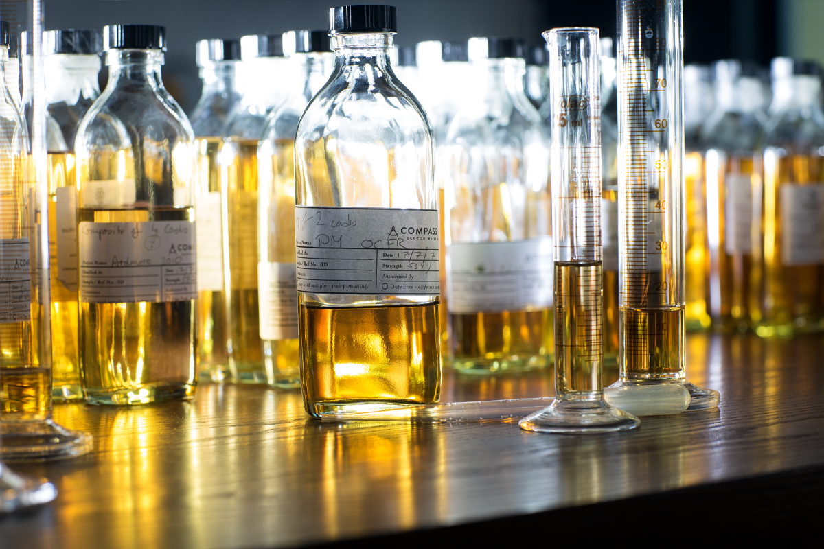 Compass Box: Compass Box blending bottles