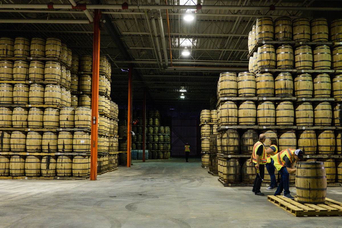 Crown Royal Noble Collection French Oak Cask Finished: Maturation warehouse in Gimli, Manitoba