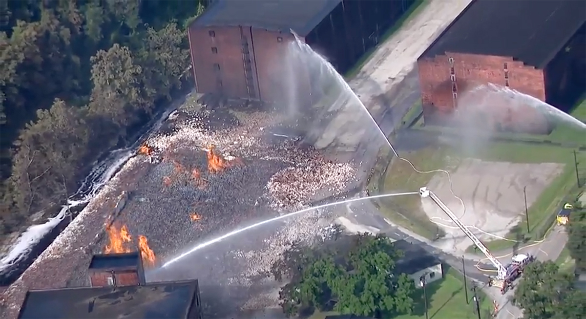 Jim Beam Warehouses Catch Fire