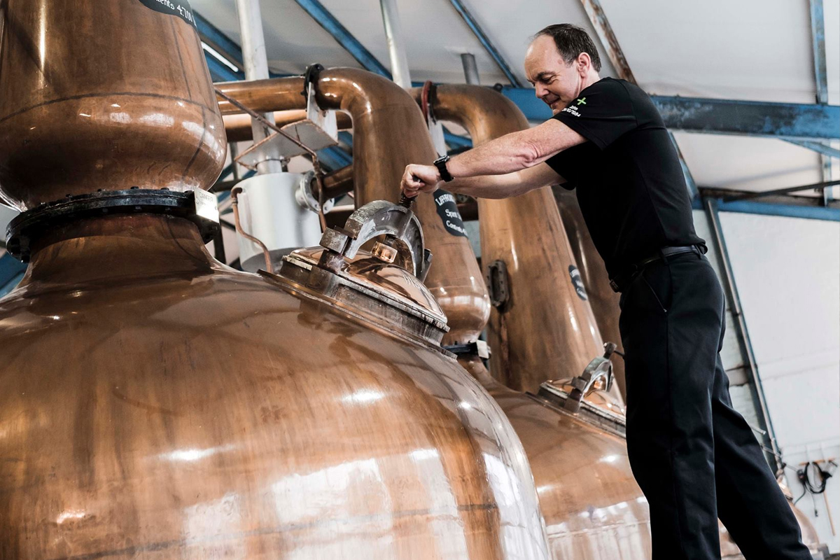 Pot Still Distillation: The stills at Laphroaig