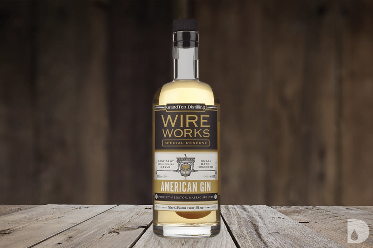 american barrel aged gin: GrandTen Distilling Wire Works Special Reserve Gin