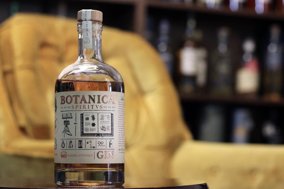 american barrel aged gin: Botanica Spiritus Barrel Aged Gin