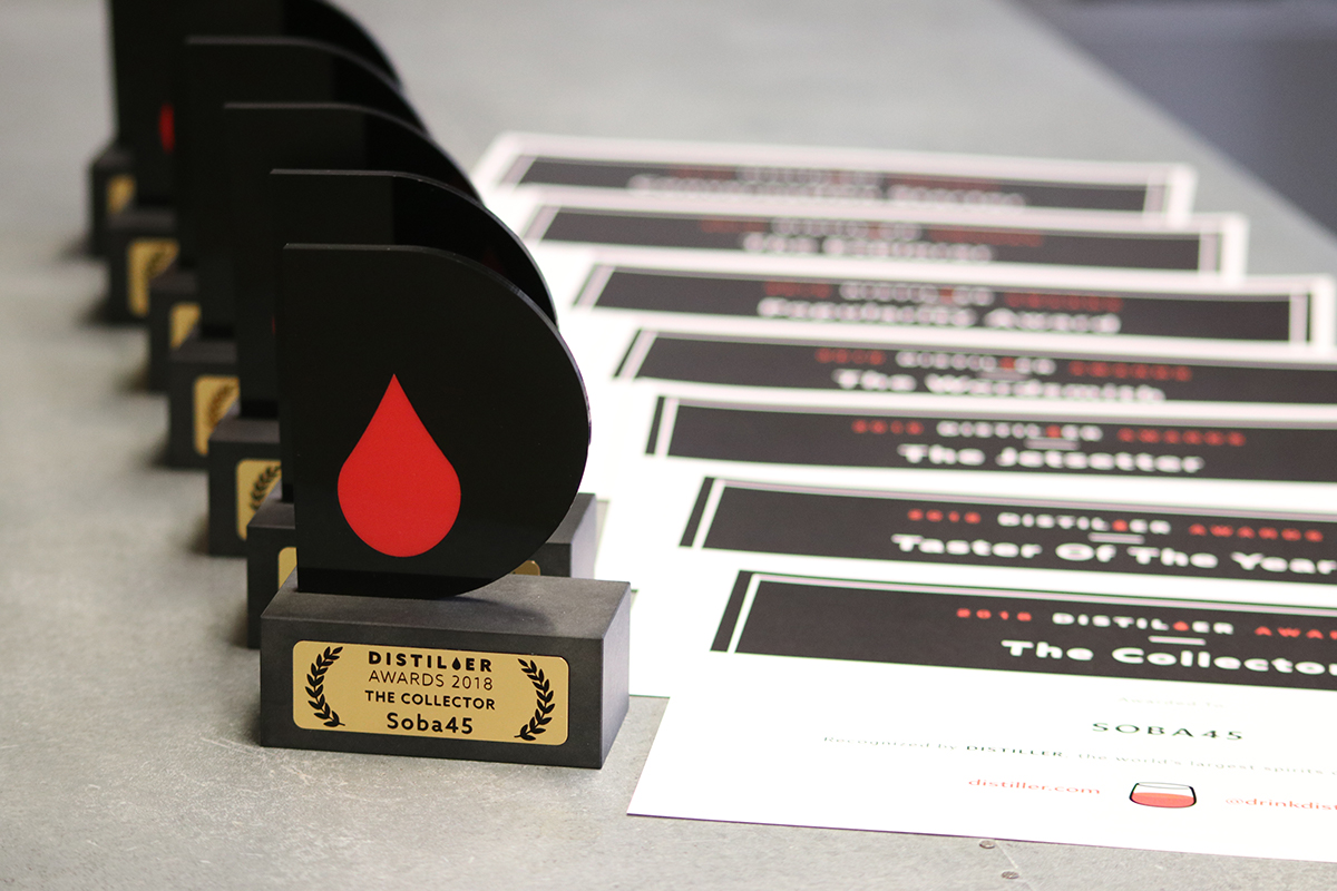 Distiller User Awards 2018 Trophies