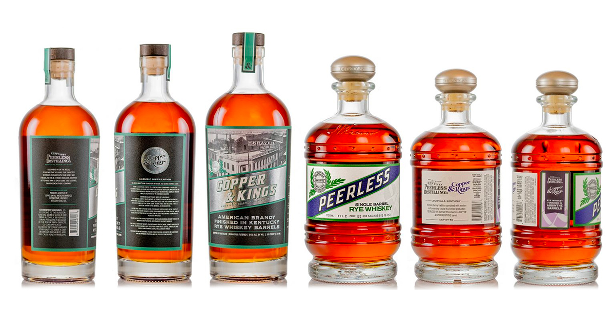 Peerless Distilling Co. and Copper & Kings Release Two Limited Barrel-Finished Spirits