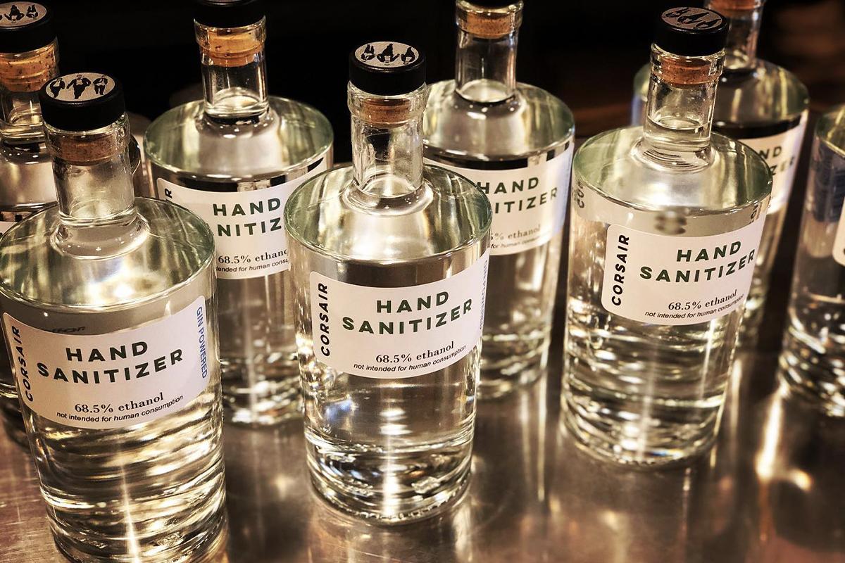Hand Sanitizer: Corsair Distillery's Gintervention