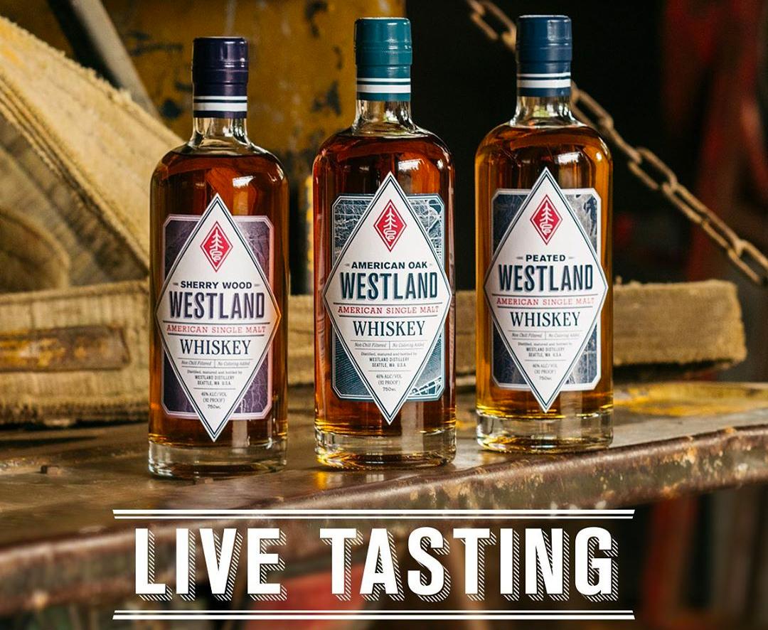 Westland Distillery's Master Distiller Hosting Three Live Tastings