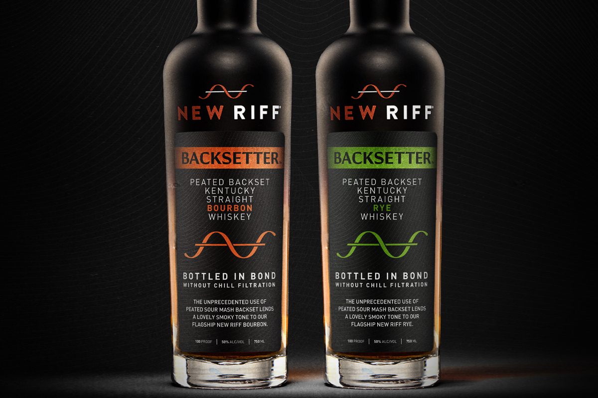 New Riff Backsetter Peated Backset Bourbon and New Riff Backsetter Peated Backset Rye