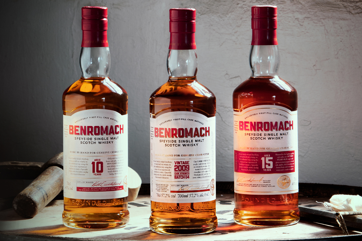 Big Peat 8 Year A846: Benromach new bottle designs