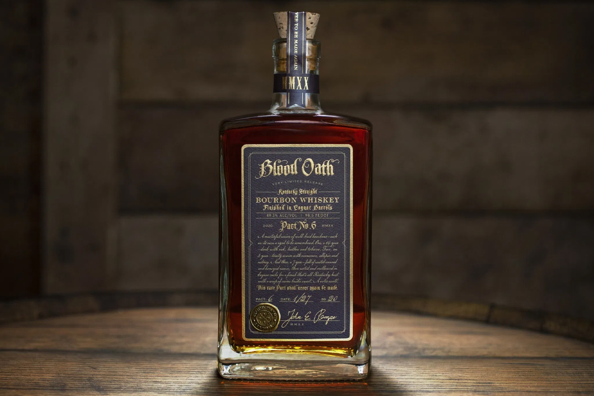 father's day whiskeys: Blood Oath Bourbon Pact No 6