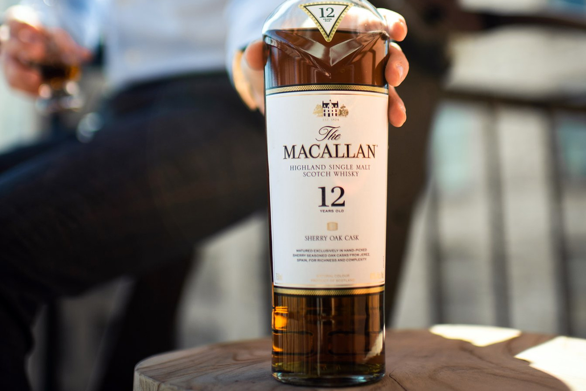 sherry matured single malt: The Macallan Sherry Oak Cask 12 Year