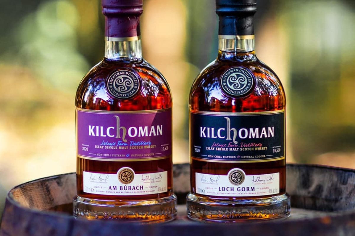 wild turkey rare breed rye: Kilchoman Loch Gorm (2020 Edition) & Kilchoman Am Bùrach