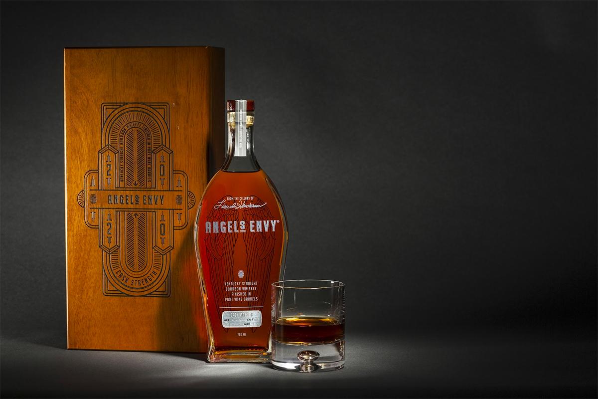 Angel's Envy Bourbon Finished in Port Wine Barrels Cask Strength