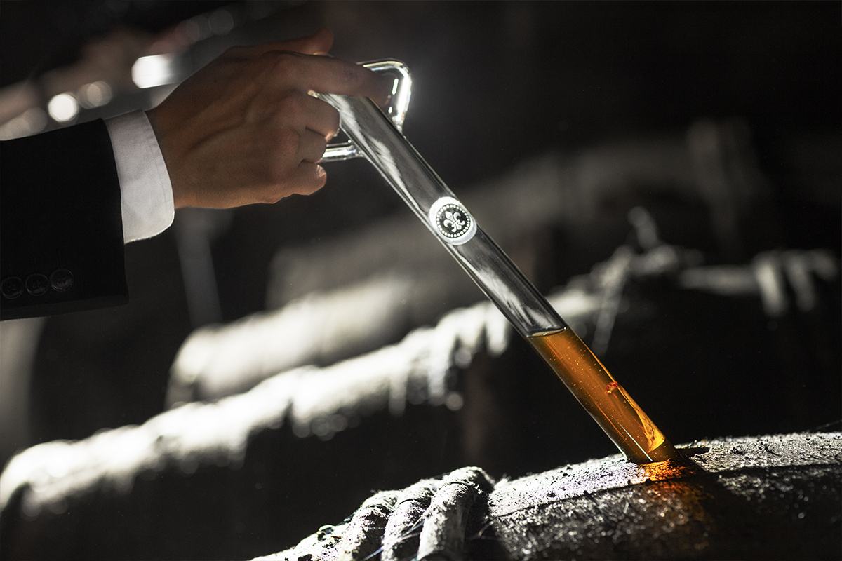 Louis XIII Cognac: Sampling cognac from the barrel