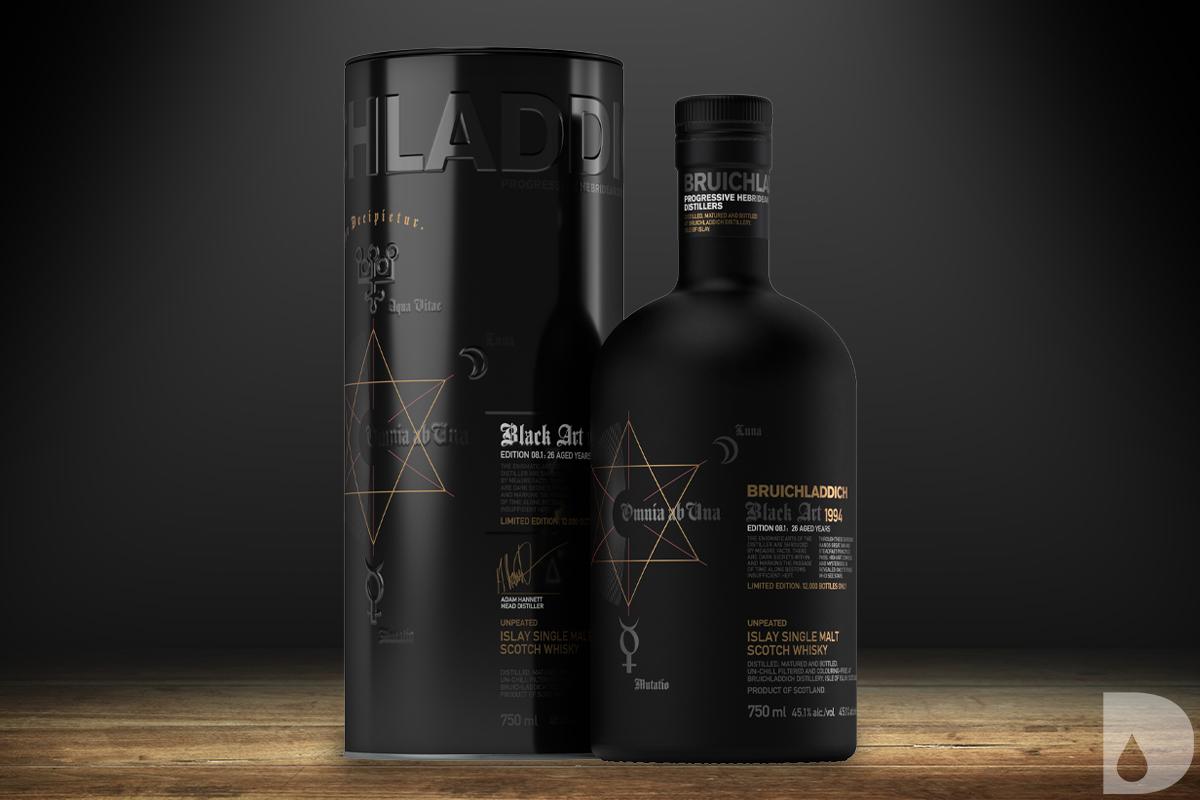 Scotch Whisky Gift Guide 2020: Bruichladdich Black Art 1994 8.1 Edition 26 Year