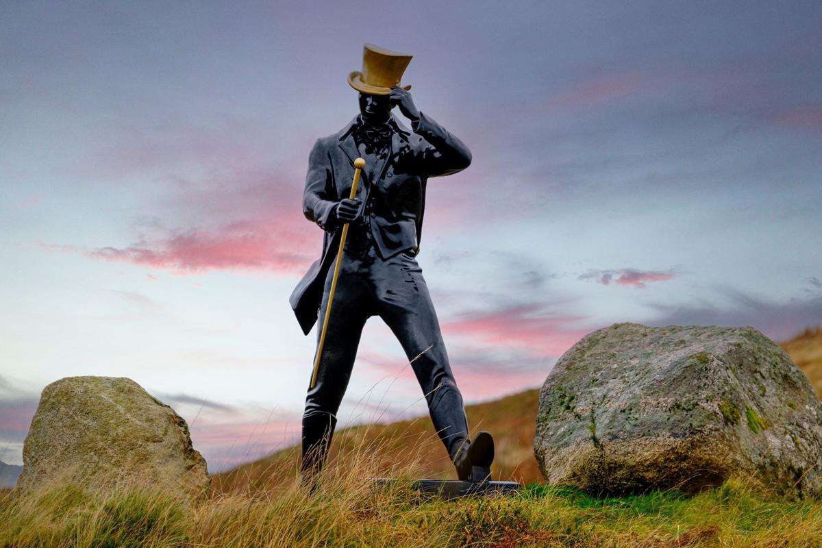 Thomas S Moore Bourbon: The Johnnie Walker mascot