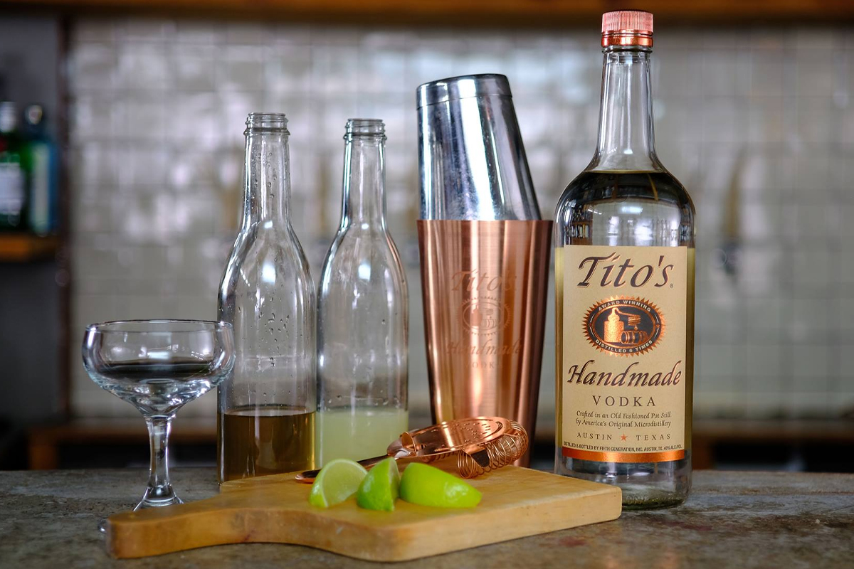 home bar guide: Tito's Vodka