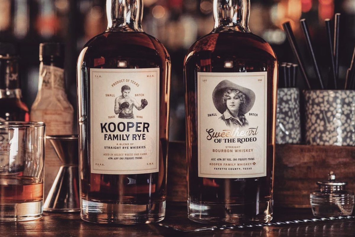 Texas Whiskey: Kooper Family Rye & Sweetheart of the Rodeo