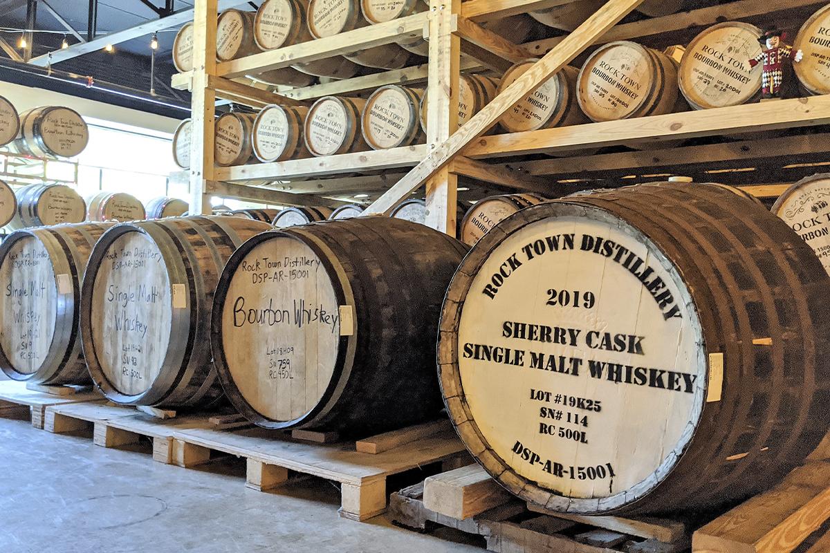 Rock Town Distillery: Barrels at Rock Town Distillery
