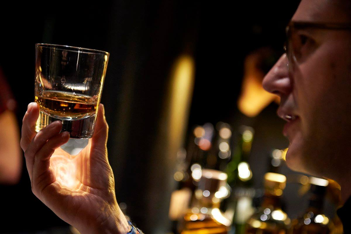 rice whisky: Whisky in a glass