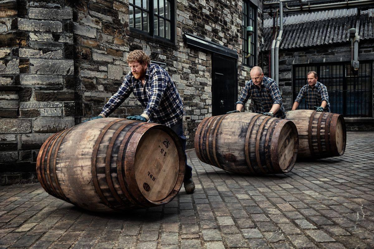 Become A Distiller: Rolling the barrels at Highland Park