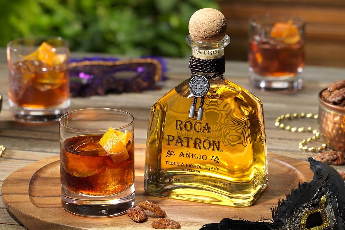 tequila styles: Roca Patrón Añejo Old Fashioned