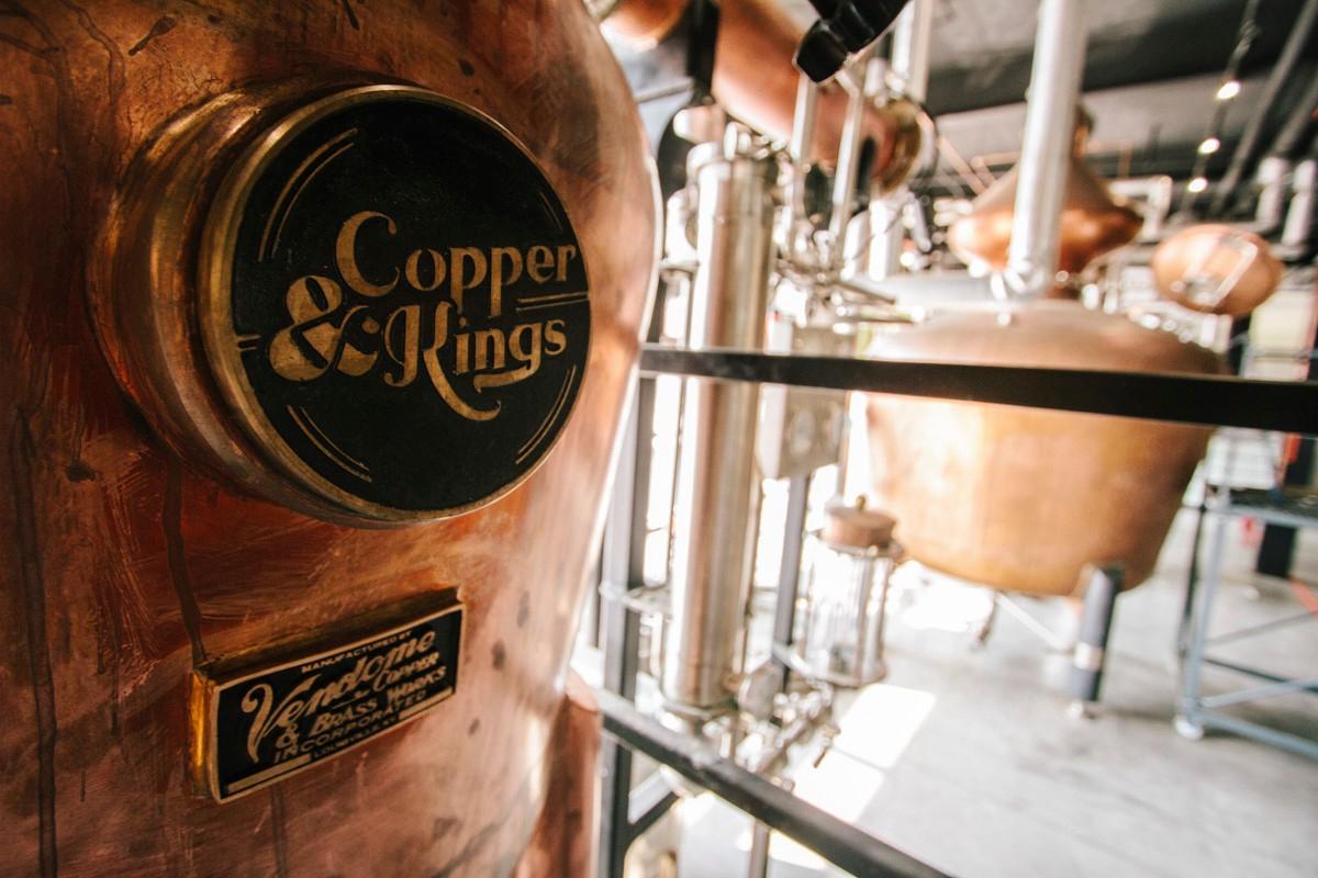distillery tour: Copper & Kings stills