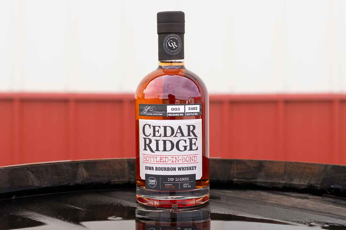 Sipsmith Strawberry Smash: Cedar Ridge Bottled-in-Bond Iowa Bourbon
