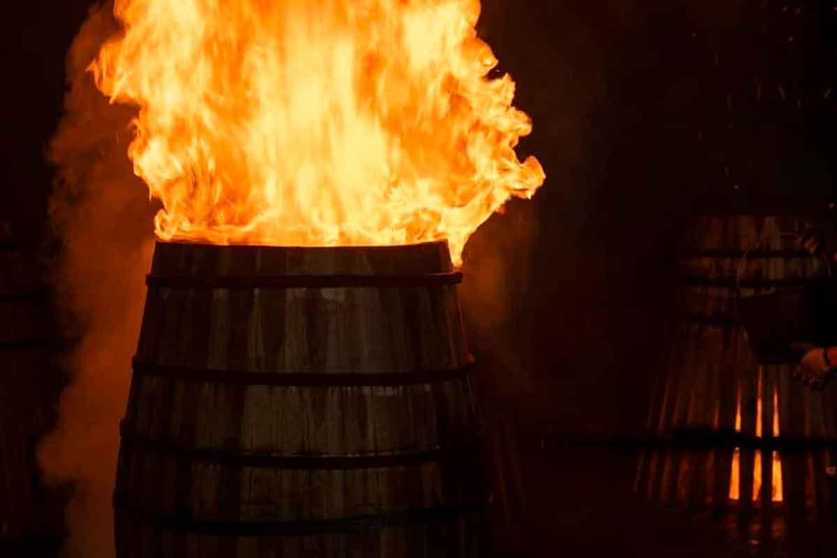 charred barrels: Charring barrels at The Macallan