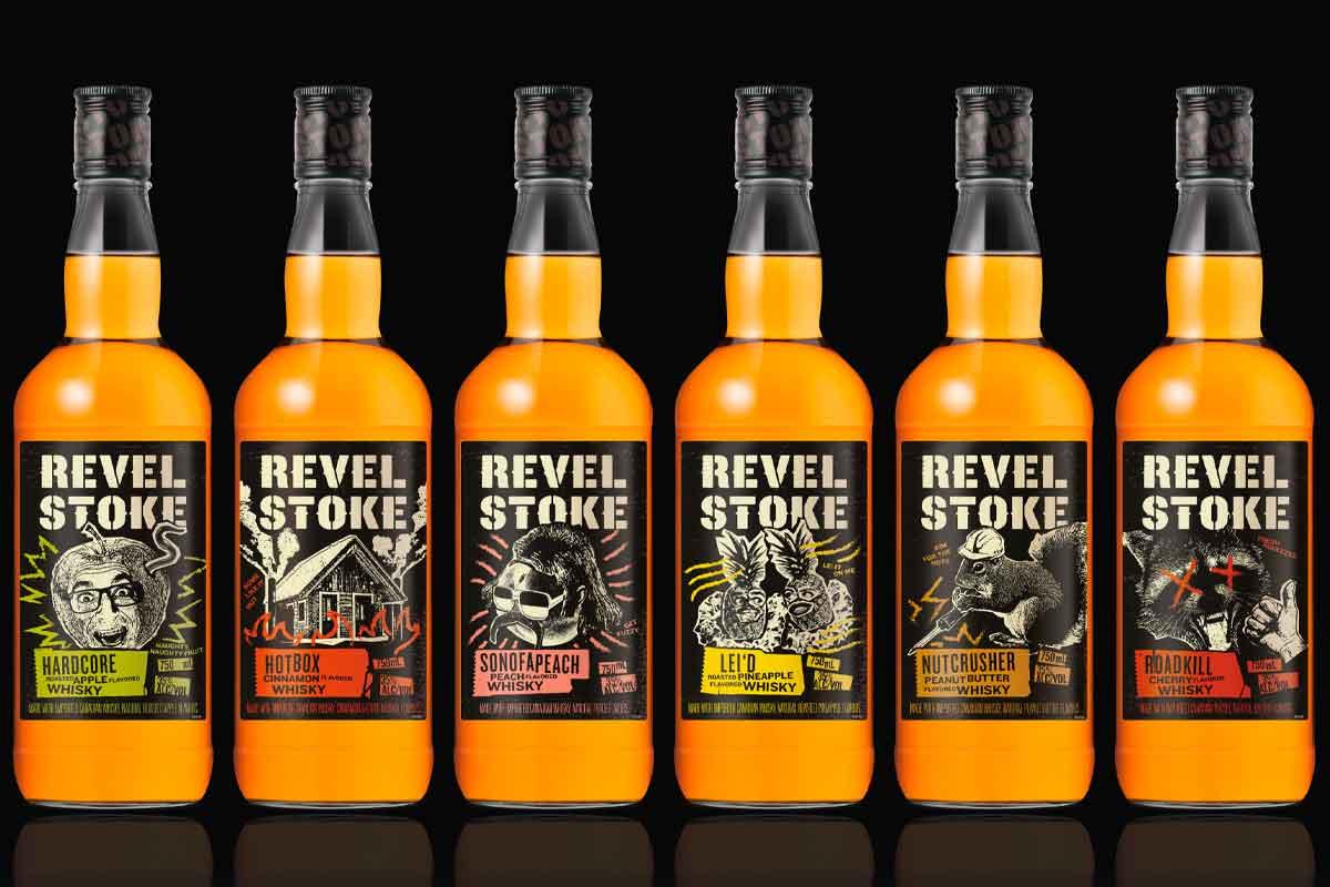 toki highball summer: Revel Stoke flavored whiskeys