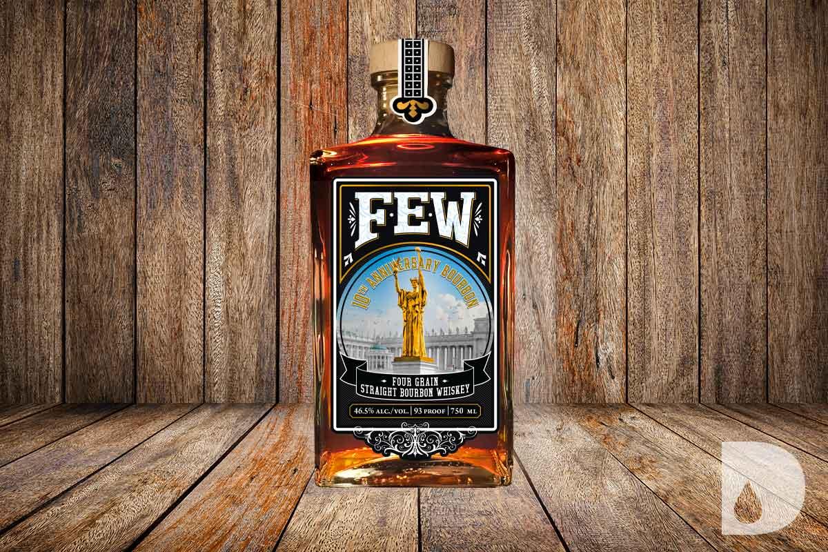 Hudson Whiskey Four Part Harmony: FEW 10th Anniversary Straight Bourbon Whiskey