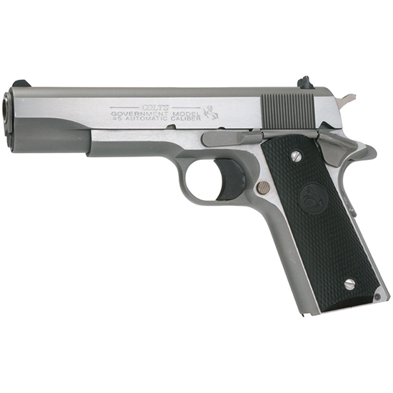 COLT 1911 GOVT 45ACP SS 5 RUBBER AND G10 GRIPS