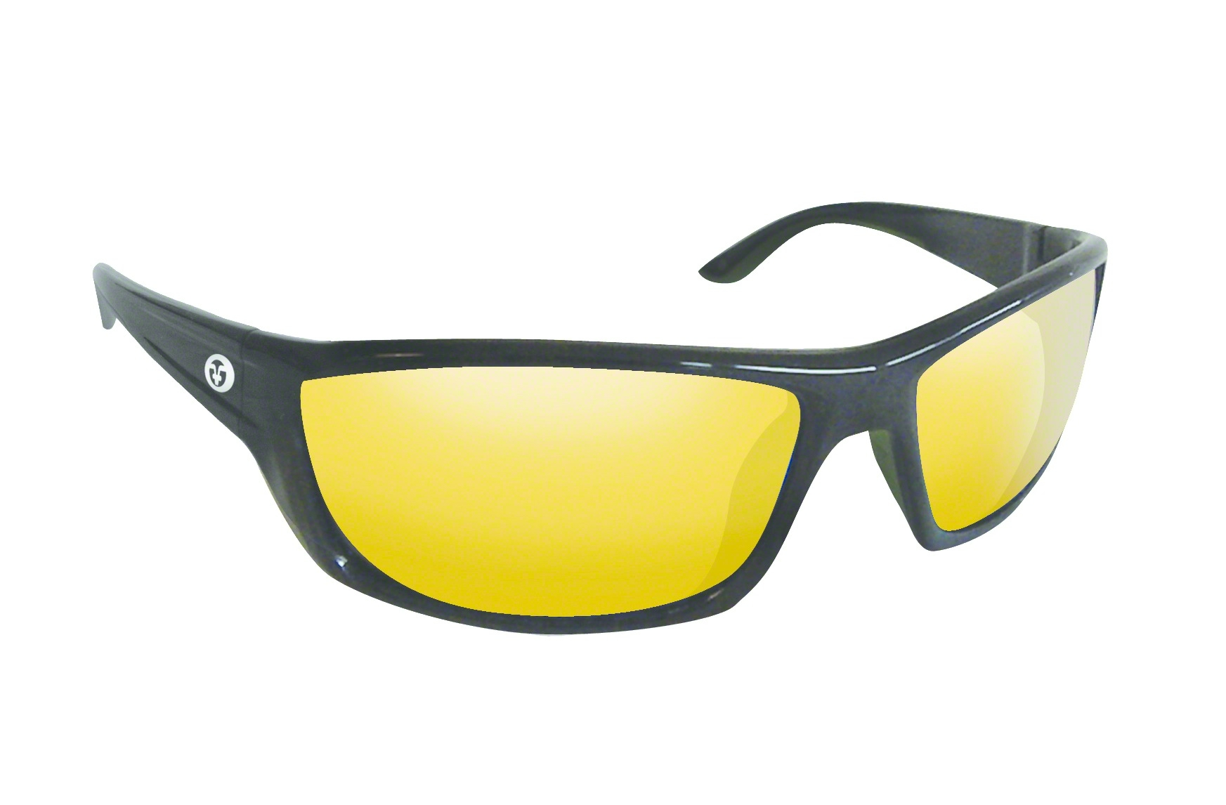 aba7d7030d2 FLYING FISHERMAN Buchanan Sunglasses Matte Black Yellow-Amber