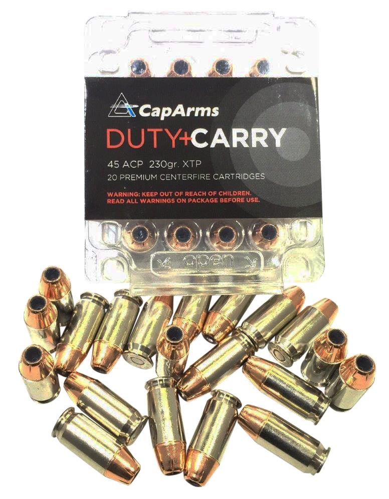 Cap Arms M045N230N Duty Carry 45 ACP 230 GR XTP HP 20 Bx/ 20 Cs