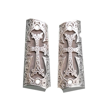 Picture of 1911 Pistol Grip Sterling Silver Historical Cross