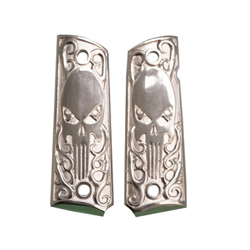 Picture of 1911 Pistol Grip Sterling Silver Skull