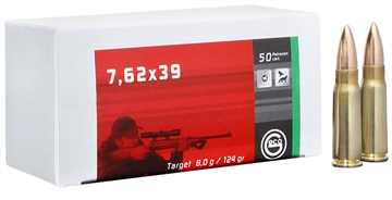 Picture of 265840020 Fmj Geco  7.62 X 39Mm 124 GR Full Metal Jacket 20 Bx/50 CS