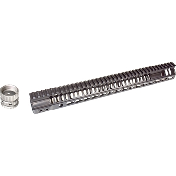 "Picture of 2A Bl-Rail Key-Mod Gen2 15"" Titanium Barrel Nut Ar-15 Blk"