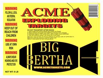 Picture of Acme Exploding Targets Big Bertha Exploding Targt 9Lb