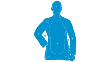 Picture of Action Targets Econ Blu 25Yd Sil Trgt 100