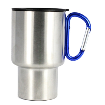 Picture of Ags Brand Stainless 14Oz Carabiner Travel Mug 2Pk-Red Hndle
