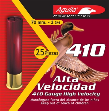 Picture of Aguila .410 Gauge High Velocity Shotshells, No. 6