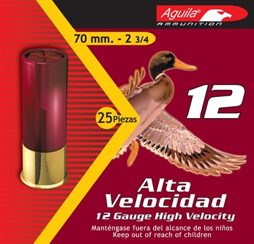 "Picture of Aguila 12 Gauge High Velocity Shotshells, 2-3/4"", No. 4 Bird Shot, 1330 Fps, 1 1/4 Oz, 25 Rnd"