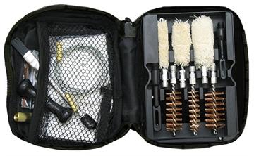 Picture of American Buffalo Ab032b Shotgun Portable Cleaning Kit 12/16/20/410 GA Nylon Case Black