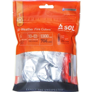 Picture of Amk Sol All-Weather Fire Cubes W/ Fire Lite Striker (6 Cubes)