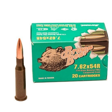 Picture of Ammo, Brown Bear, Ab754fmj, 7.62X54,